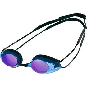 arena Tracks Mirror Svømmebriller, black-blue multi-black